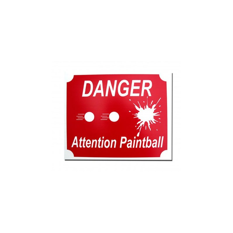 PANNEAU ATTENTION PAINTBALL