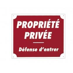 "PANNEAU ALUMINIUM ""PROPRIETE PRIVEE"""