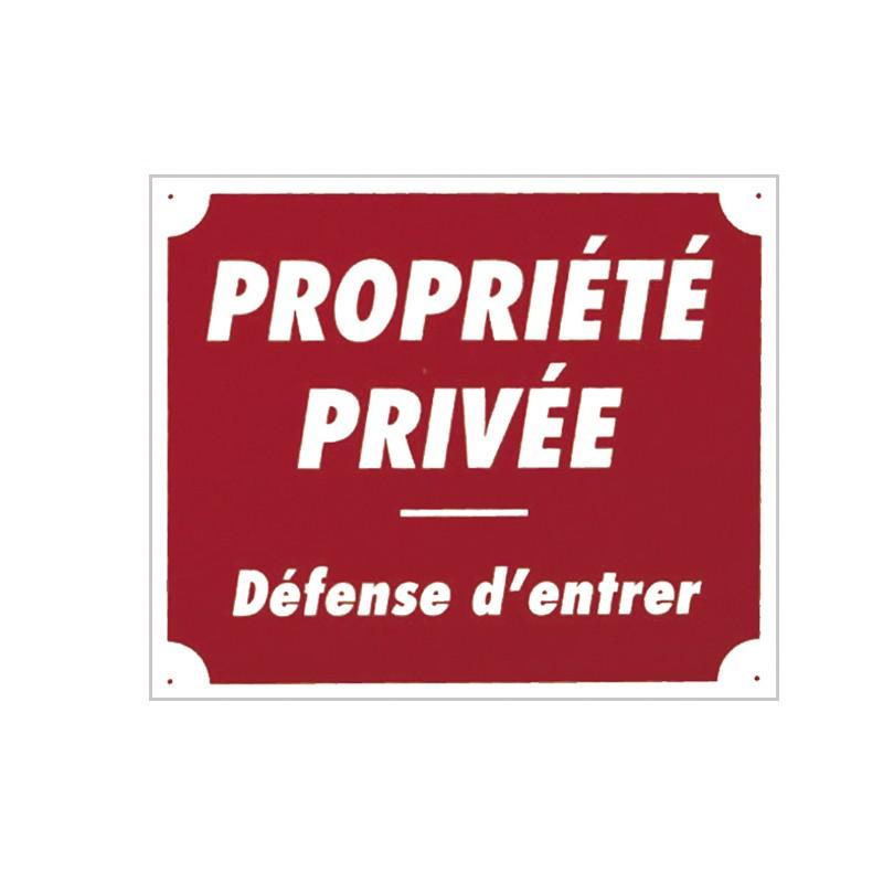 "PANNEAU ALUMINIUM ""PROPRIETE PRIVEE""PBG 62Aménagements terrain"