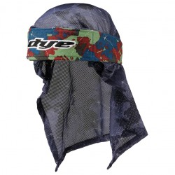 HEAD WRAP DYE GLOBAL BLEU RD LT VERT