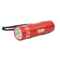 LAMPE FLASHLIGHT SWISS ARMS MINI ROUGE