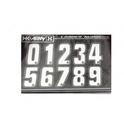 STICKERS HK ARMY LOADER NUMBERS - WHITE 1 SET ( 2 PIECES)
