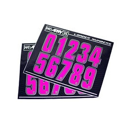 STICKERS HK ARMY LOADER NUMBERS - PINK- 1 SET ( 2 PIECES)