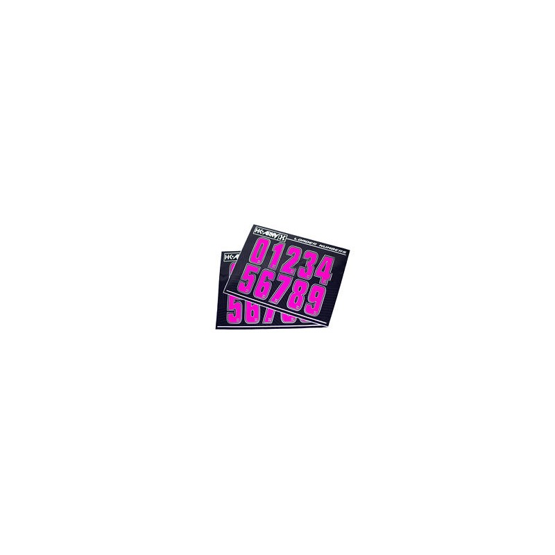 STICKERS HK ARMY LOADER NUMBERS - PINK- 1 SET ( 2 PIECES)PBG 62