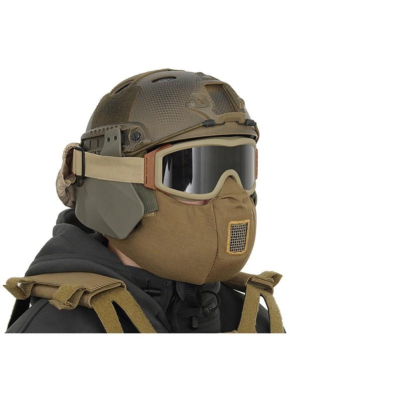 MASQUE DARK BROWN TACTICAL HALF FACE PROTECTIONPBG 62Protection du visage