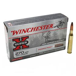 WINCHESTER 270 WSM POWER POINT 150GR X20