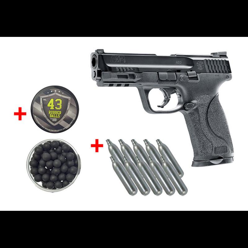 PACK DEFENSE PISTOLET SMITH & WESSON M&P 9 T4EPBG 62Armes balles caoutchouc
