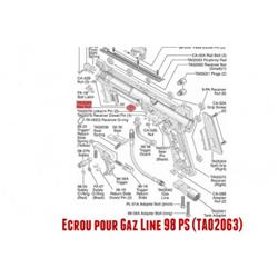 98 ECROU GAZ LINE
