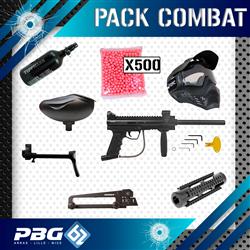 PACK COMBAT BT4 COMBAT TACTIQUE MP5+MASQUE+BOUTEILLE+CUSTO