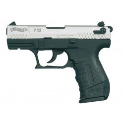 PISTOLET WALTHER P22 BICOLORE BLANC/GAZ